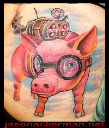 Tattoos - Flying Pigs done at the south florida tattoo convention - 68099