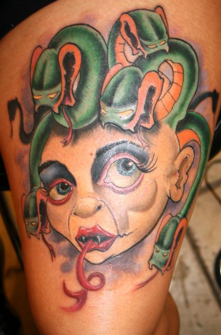 Tattoos - madussa head tattoo - 74108