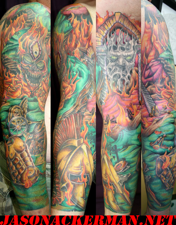 This is sparta by jason ackerman tattoonow for Jason ackerman tattoo