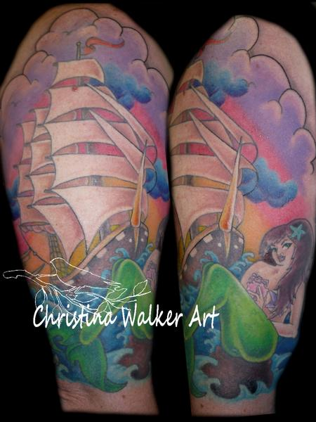 Christina Walker - Mermaid and Pirate Ship