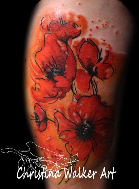Christina Walker - Poppy Tattoo