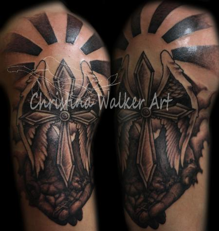 Christina Walker - Religious Half Sleeve