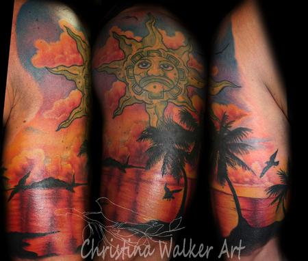 Christina Walker - Sunset Half Sleeve