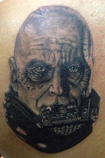 Darth Vader without his helmet  Tattoo Design Thumbnail