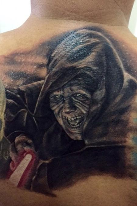 Darth Sidious Star Wars portrait  Tattoo Design Thumbnail