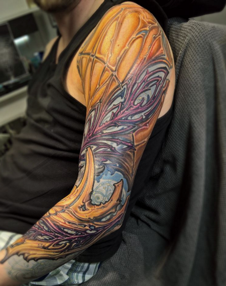 Bio-Organic Sleeve Tattoo Tattoo Design