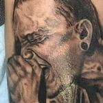 Chester Bennington Portrait Tattoo Design Thumbnail