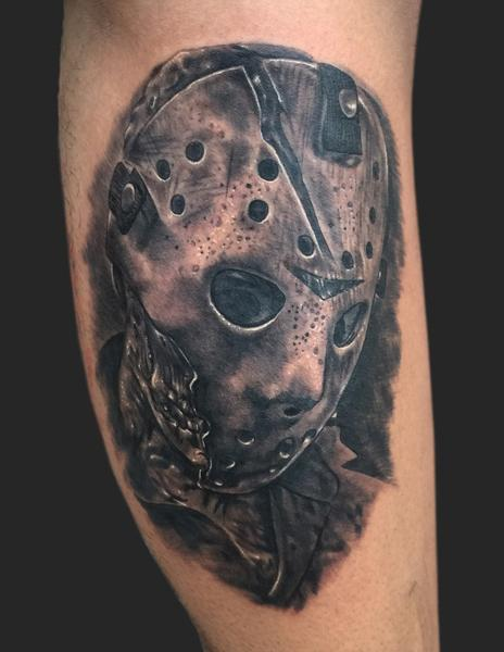 Jason voorhees friday the 13th tattoo by daniel for Friday the 13th tattoo specials near me
