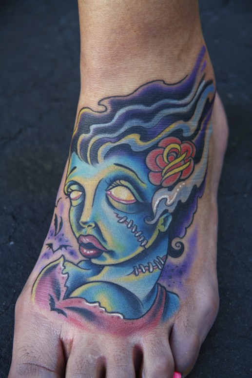 Brittan London Reese - Bride Of Frankenstein Tattoo