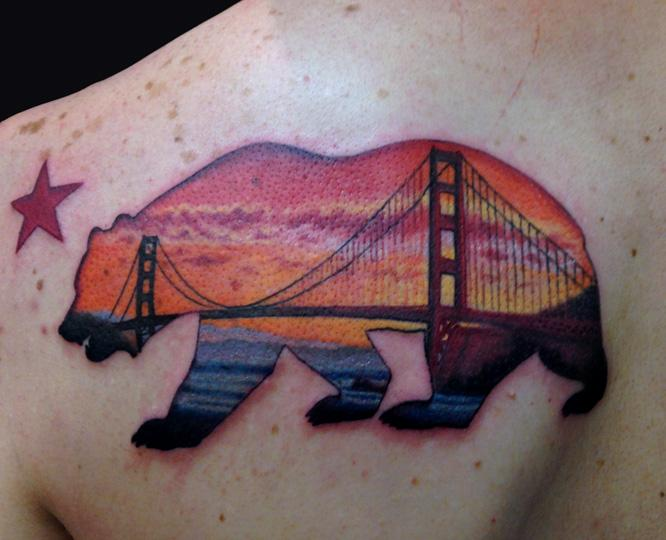 california bear with a san fran twist by marc durrant ForCalifornia Bear Tattoos