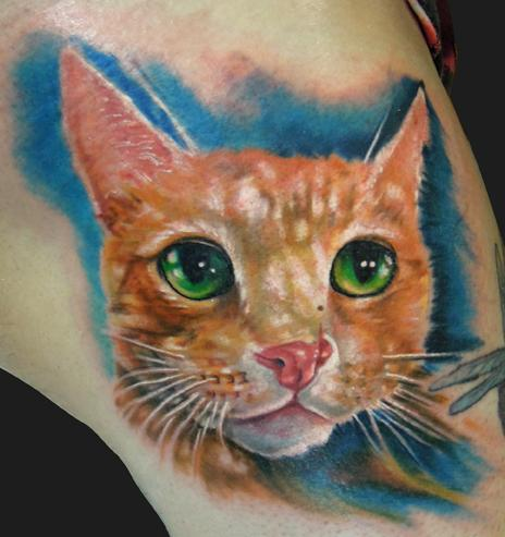 Katelyn Crane - Cat tattoo