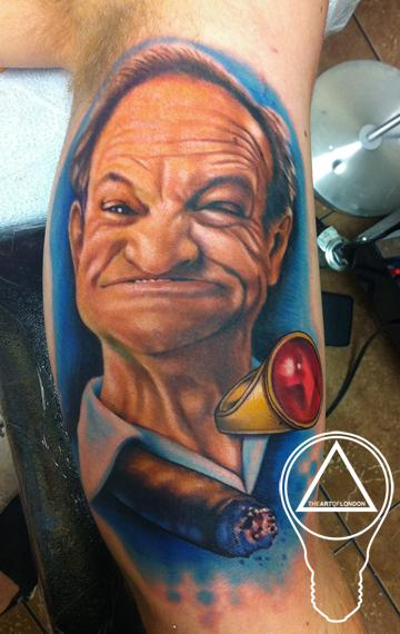 Brittan London Reese - Grandpa Memorial Gurn Face Tattoo
