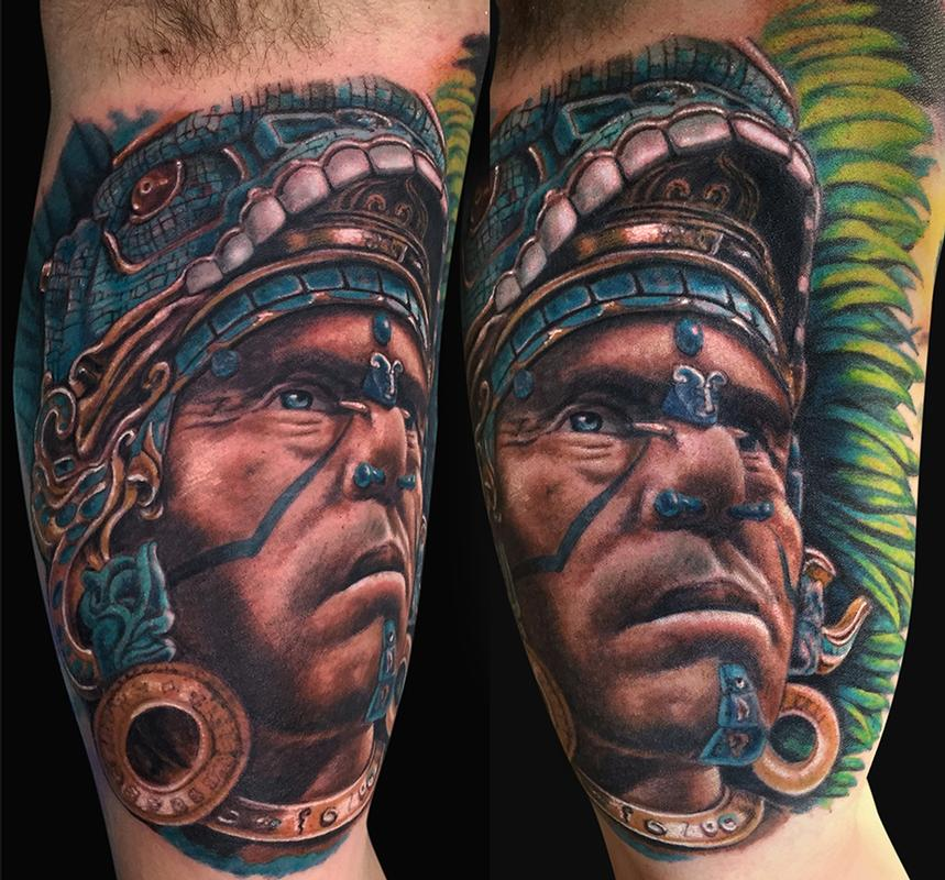 mayan warrior tattoo by jamie lee parker tattoonow. Black Bedroom Furniture Sets. Home Design Ideas