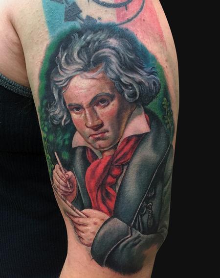 Tattoos - Ludwig Van Beethoven Portrait Tattoo - 99579
