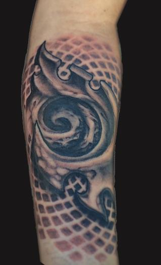 Spencer Caligiuri - Bio Organic Geometry Tattoo