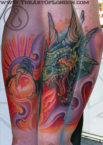 Gnar Dragon Beast Tattoo Tattoo Design Thumbnail