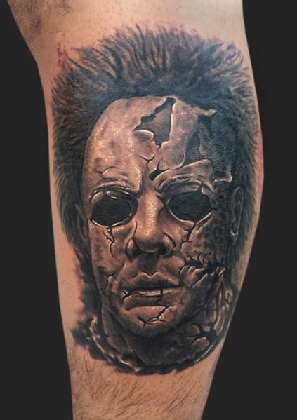 Michael myers from halloween tattoo by daniel chashoudian for Michael myers tattoo