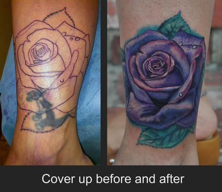Tattoos - Rose Cover up Tattoo - 67324