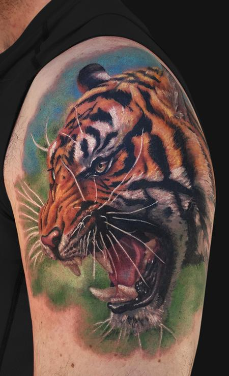 Roaring Tiger Tattoo Design Thumbnail