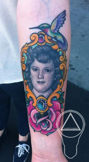 Tattoos - 1940s Grandmother Portrait - 62962