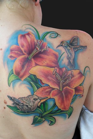 tattoos of hummingbirds and flowers. Hummingbirds and flowers to