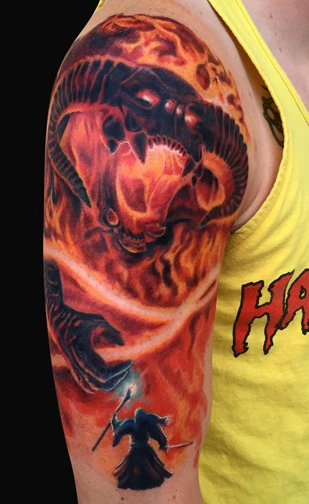 Balrog Lord of The Rings Tattoo Design Thumbnail