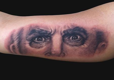 Tattoos - Bela Lugosi eyes - 68115