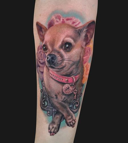 Chihuahua dog portrait tattoo Design Thumbnail