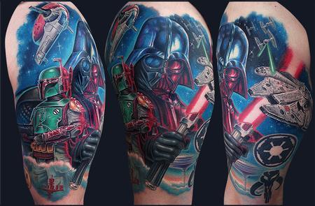 Star Wars half sleeve Design Thumbnail