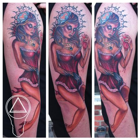 London Reese - Evil Demon Chick Tattoo