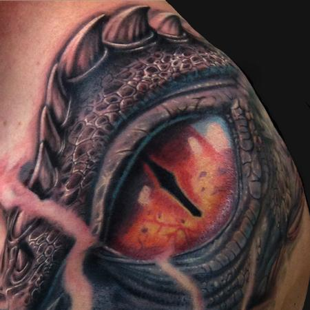 Dragon Eye Tattoo Design Thumbnail