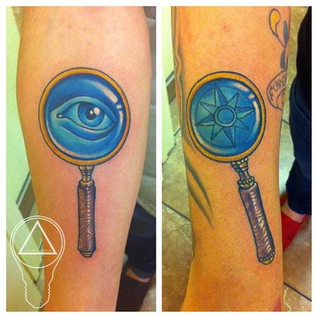 Brittan London Reese - BFF Magnifying Glass Tattoos