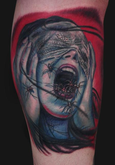 Jamie Parker - Spider Screamer Tattoo