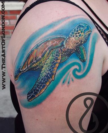 London - Sea Turtle Tattoo