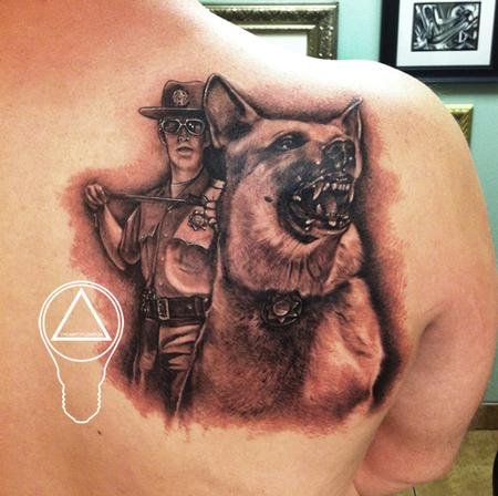 sheriff k9 memorial dad portrait by london reese tattoonow. Black Bedroom Furniture Sets. Home Design Ideas