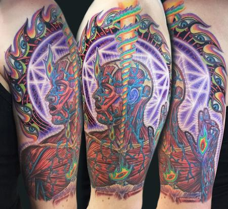 Lateralus by Alex Grey tattoo Design Thumbnail