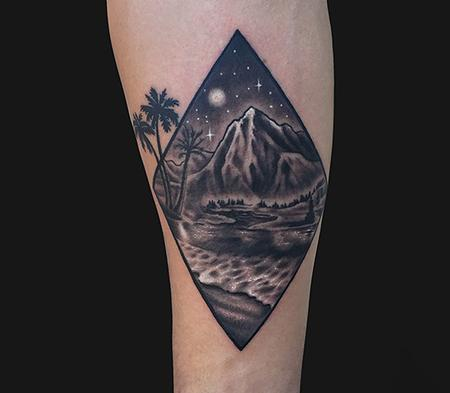 Geometric Landscape tattoo Design Thumbnail