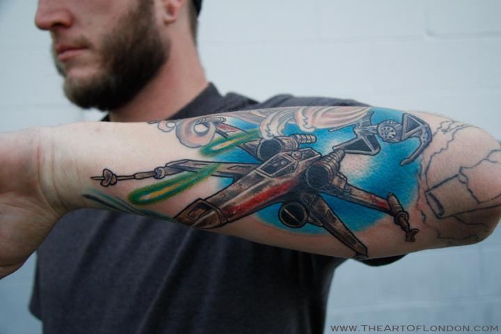fighter tattoos. Wars X Wing Fighter Tattoo