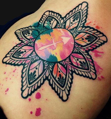 Watercolor Mandala Tattoo Design Thumbnail