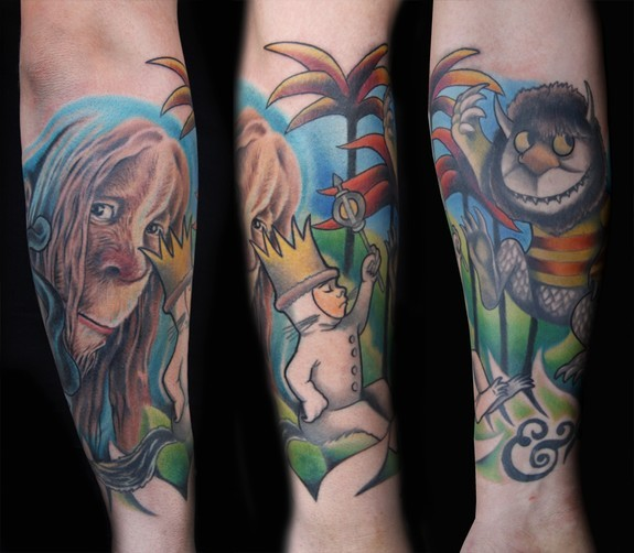 London Reese - Where The Wild Things Are Half Sleeve Tattoo