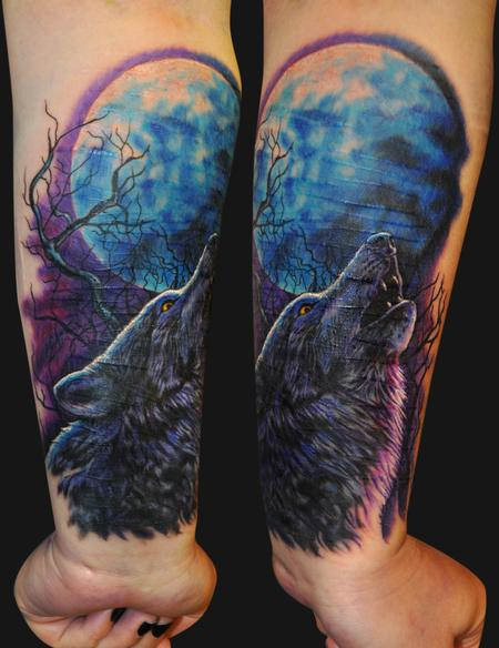 Tattoos - Howling Wolf Tattoo - 67322