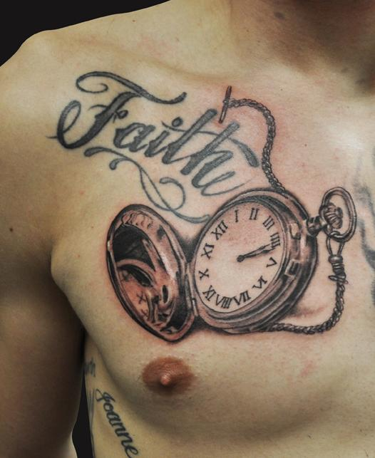 Old Pocket Watch Tattoo Meaning Jamie Parker
