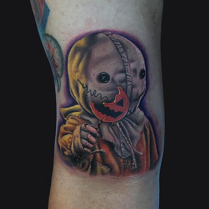 Sam from trick 39 r treat by marc durrant tattoonow for Tattoo artists maryland