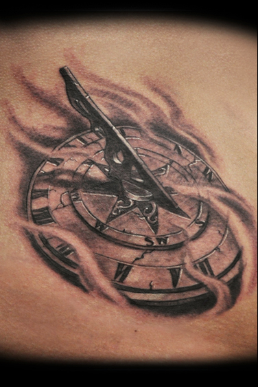 sundial tattoo by jamie lee parker tattoonow