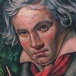 Tattoos - Ludwig Van Beethoven Portrait Tattoo - 99579