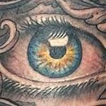 Tattoos - Eye and Lettering Tattoo - 100970