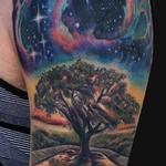Tattoos - Outer space Tree tattoo half sleeve - 99580