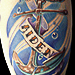 Tattoos - Anchor and banner - 60856