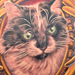 Cat Portrait with Frame Tattoo Design Thumbnail