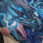 Mega Charizard X Chest Tattoo Tattoo Design Thumbnail